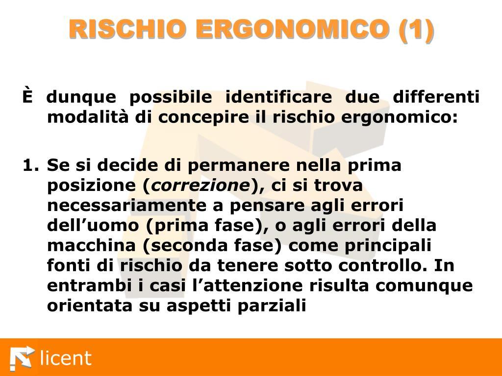 RISCHIO ERGONOMICO (1)