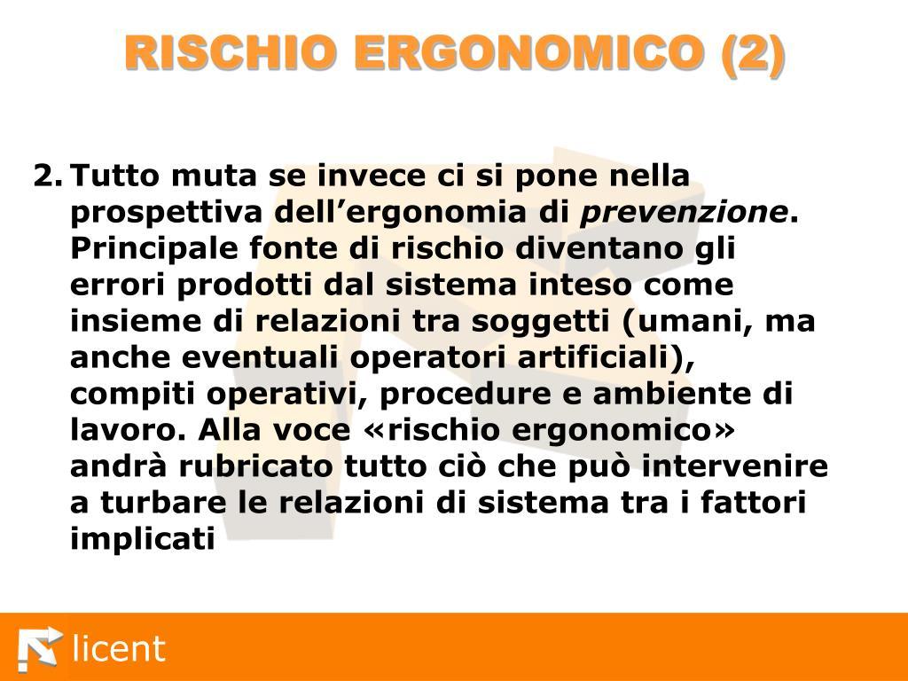 RISCHIO ERGONOMICO (2)