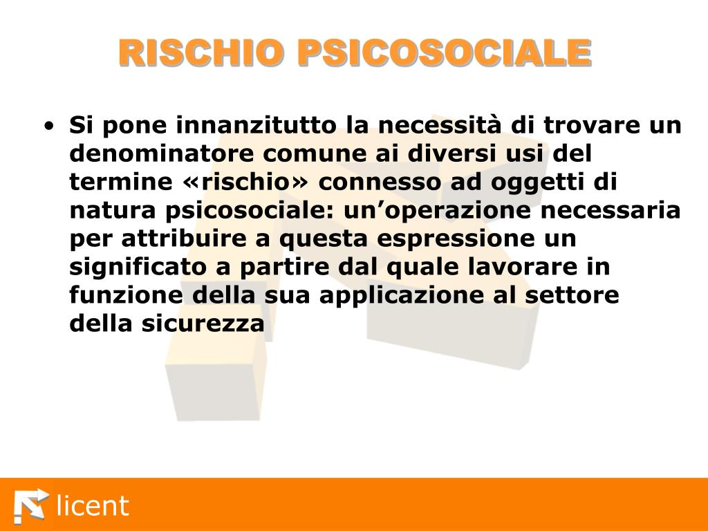 RISCHIO PSICOSOCIALE