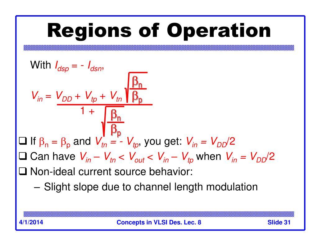 Regions of Operation