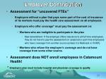employer contribution
