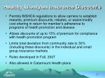 healthy lifestyles insurance discounts