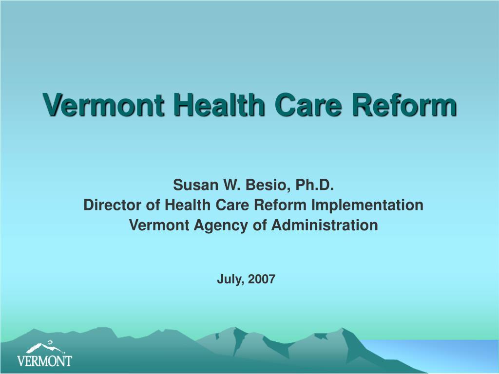 vermont health care reform l.