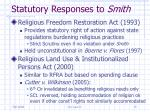 statutory responses to smith