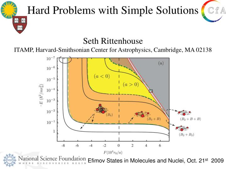 Hard Problems with Simple Solutions