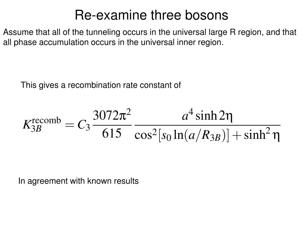 Re-examine three bosons