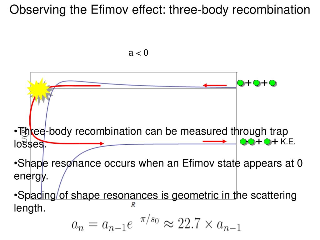 Observing the Efimov effect: three-body recombination