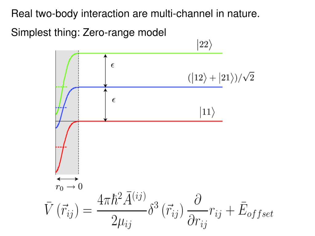 Real two-body interaction are multi-channel in nature.