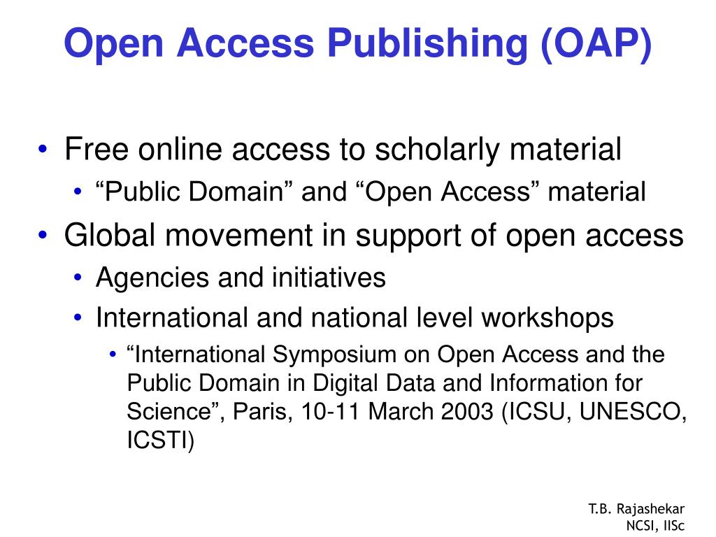 Open Access Publishing (OAP)