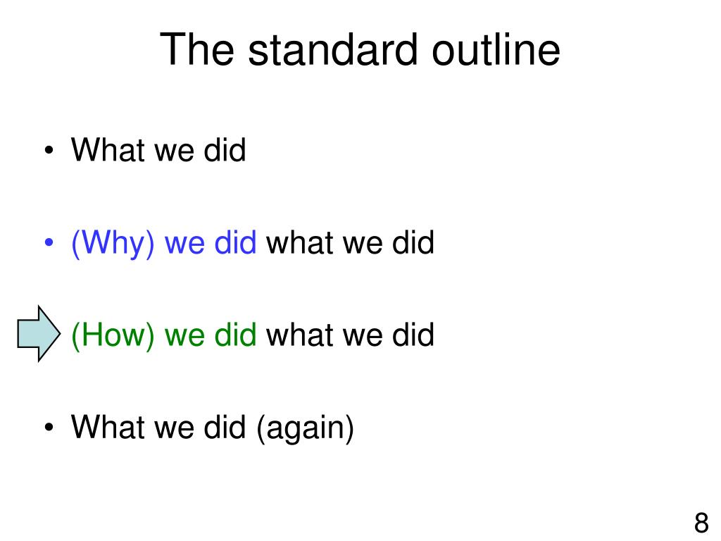 The standard outline