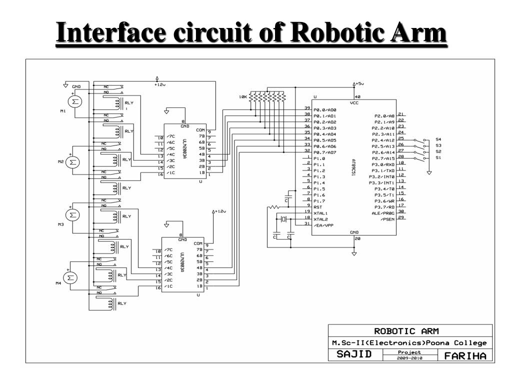 Interface circuit of Robotic Arm