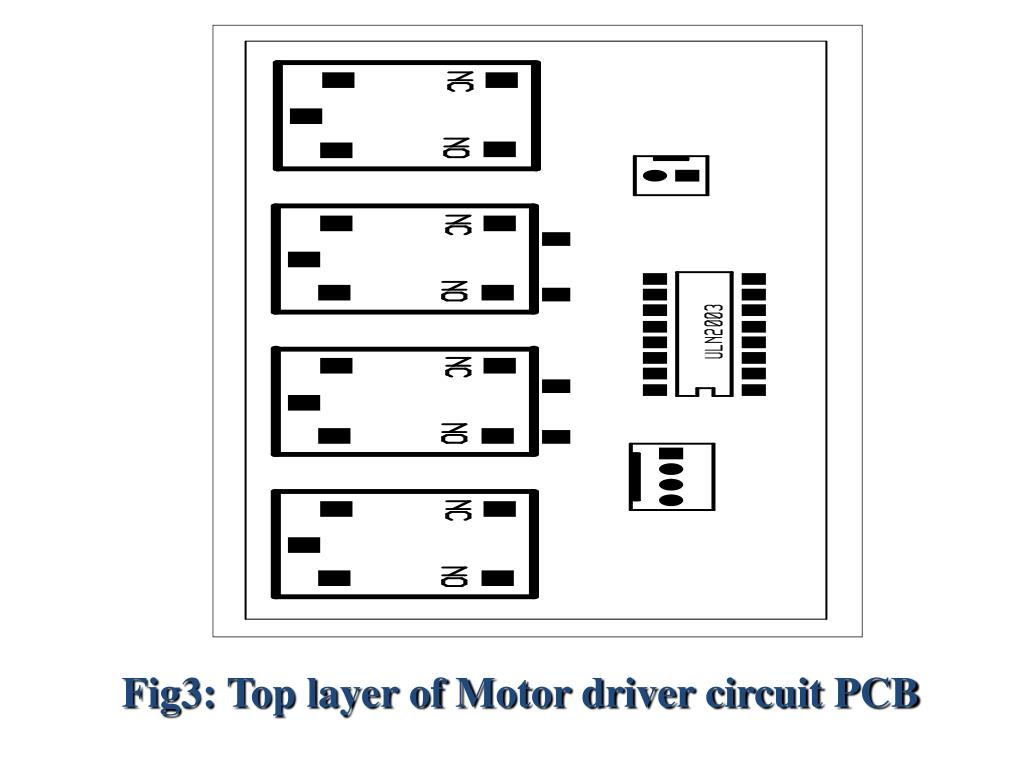 Fig3: Top layer of Motor driver circuit PCB
