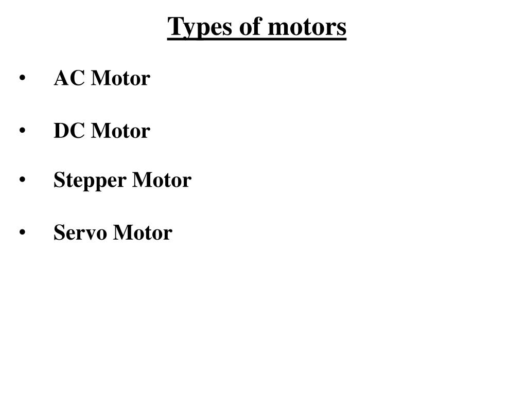 Types of motors