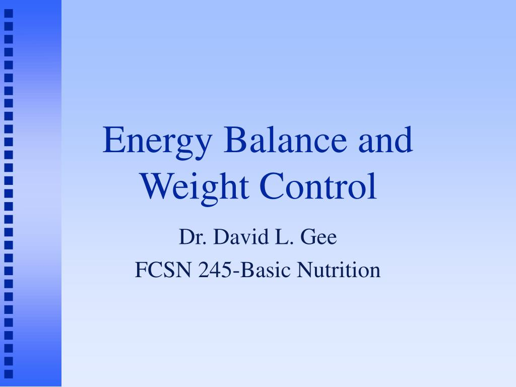 energy balance and weight control l.