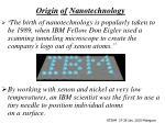 origin of nanotechnology