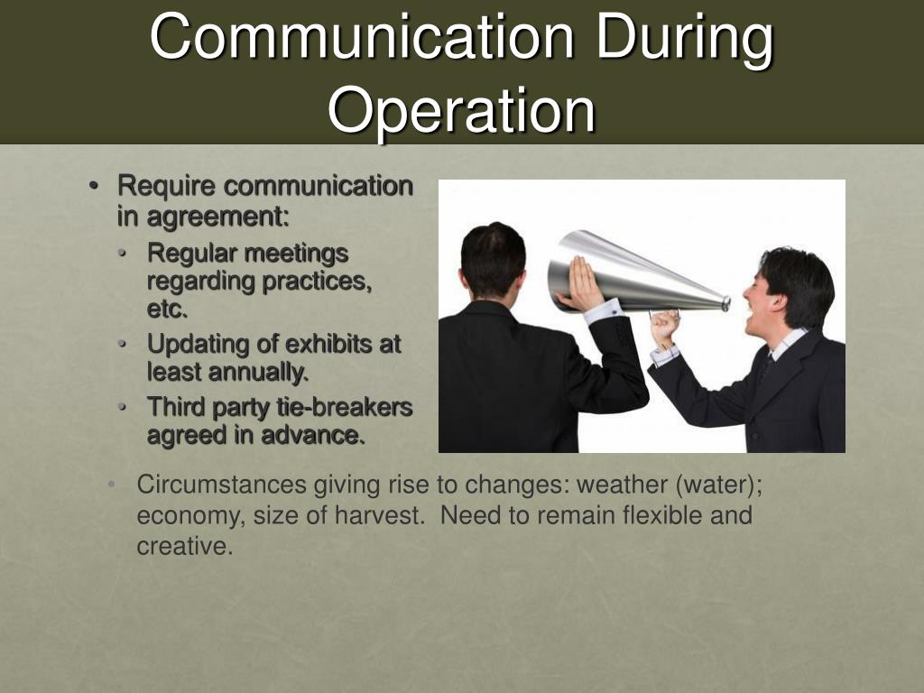 Communication During Operation