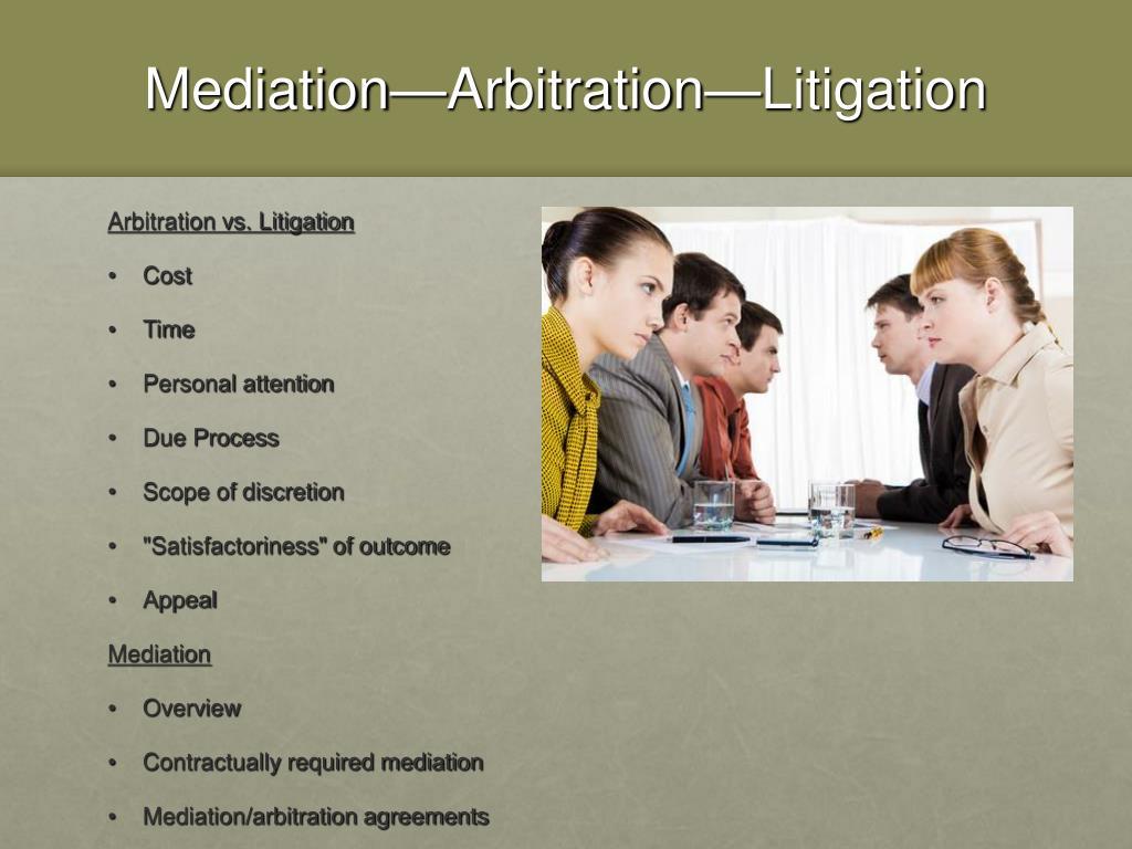 Mediation—Arbitration—Litigation