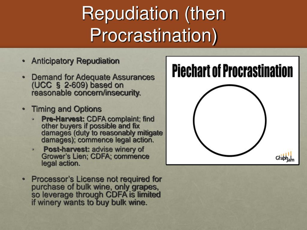 Repudiation (then Procrastination)