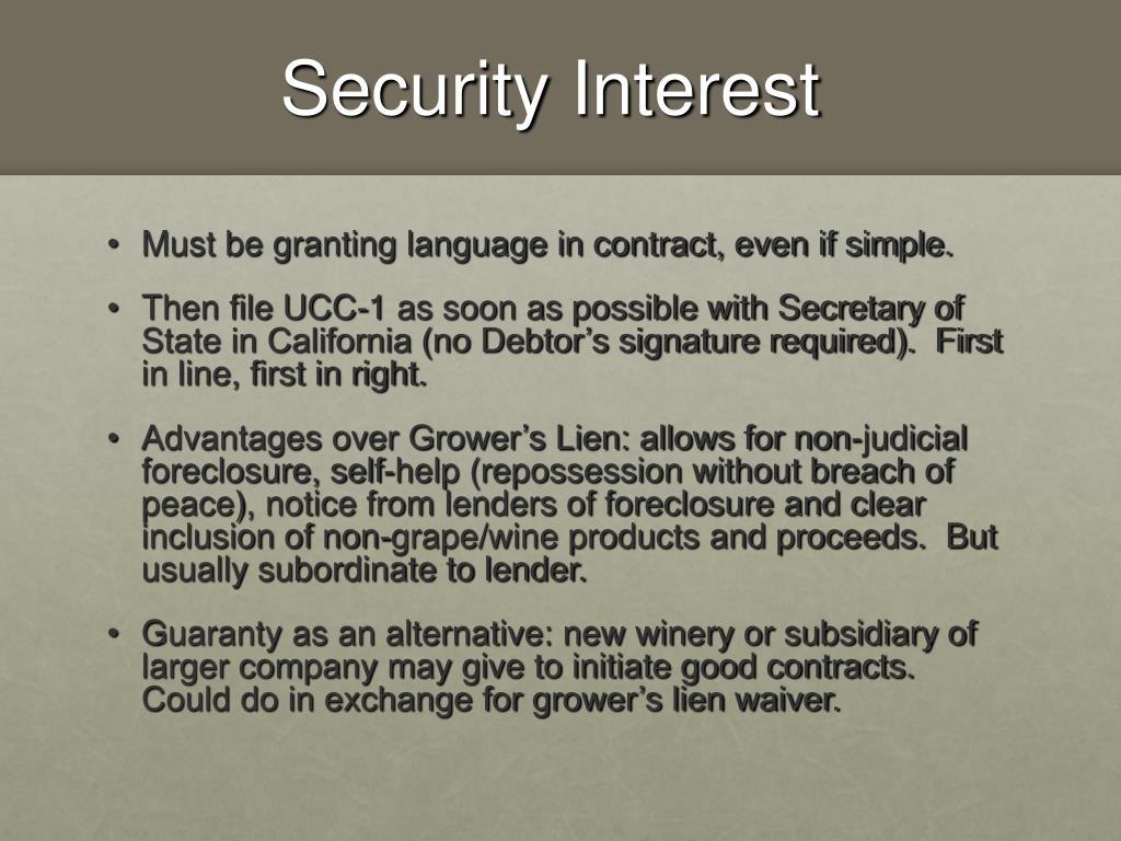 Security Interest
