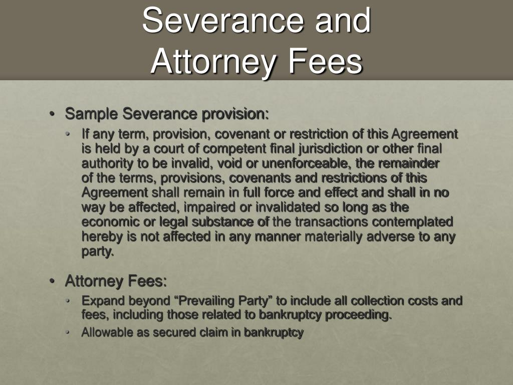 Severance and