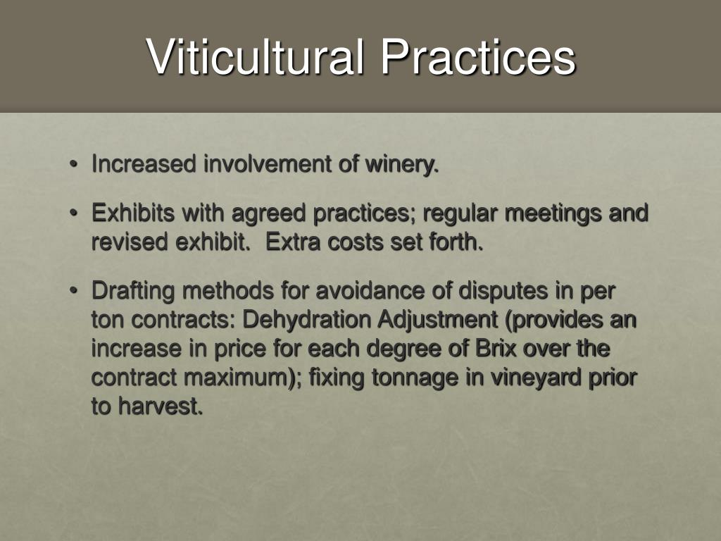 Viticultural Practices