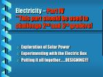 electricity part iv this part should be used to challenge 2 nd and 3 rd graders