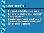 safety in a storm
