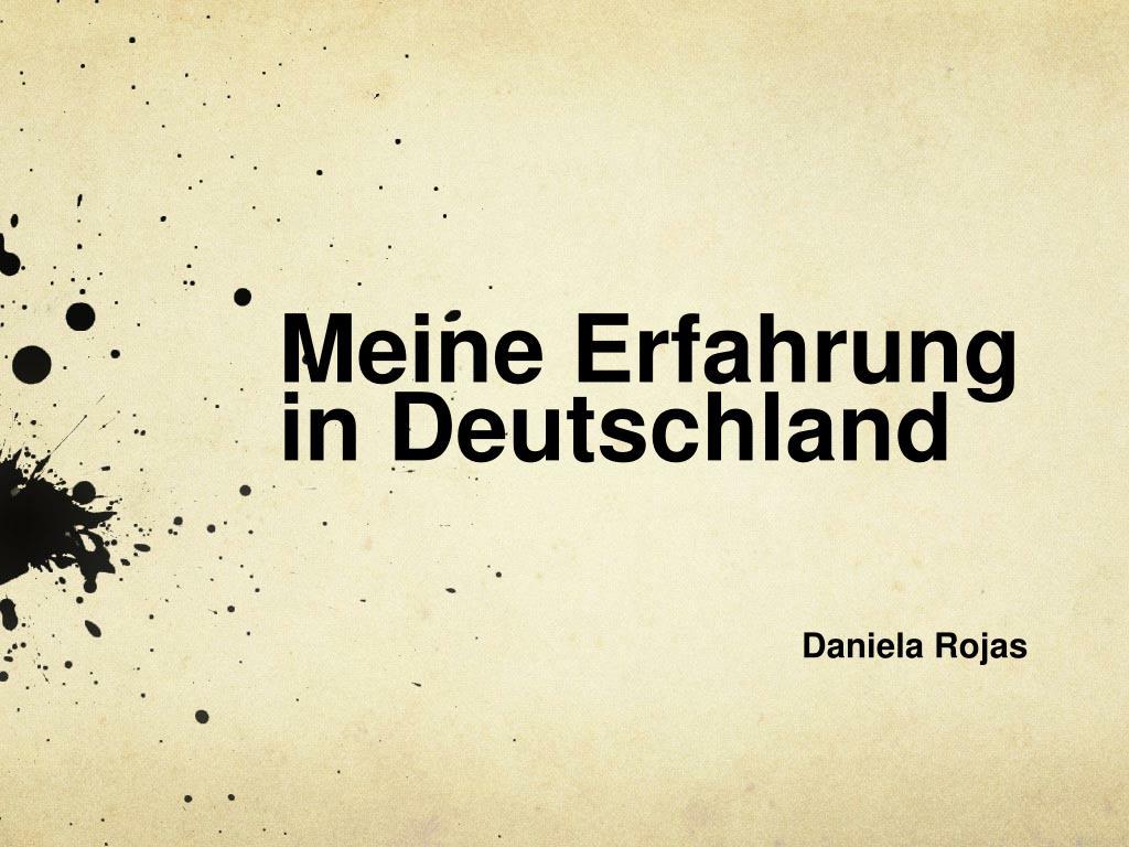 meine erfahrung in deutschland l.