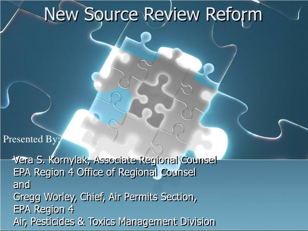new source review reform l.