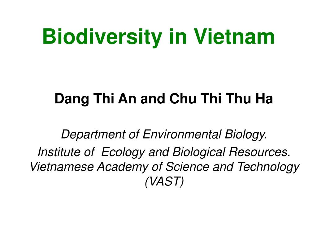 biodiversity in vietnam l.