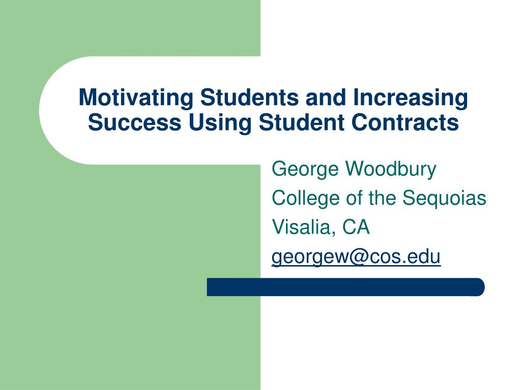 motivating students and increasing success using student contracts l.