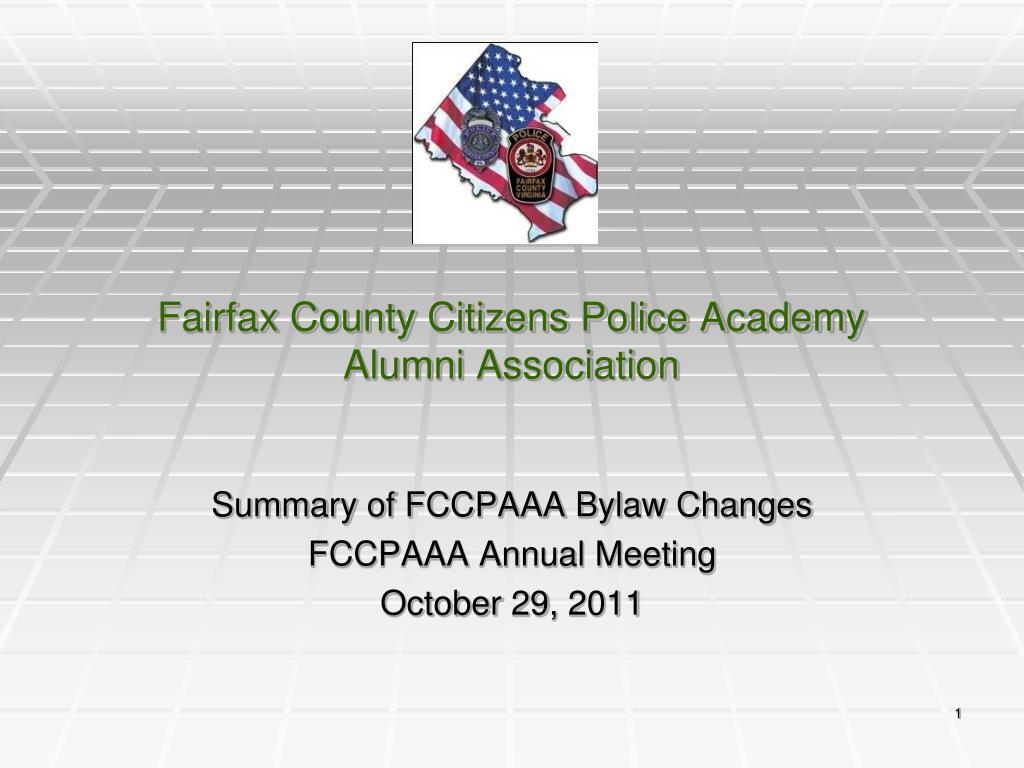 fairfax county citizens police academy alumni association l.