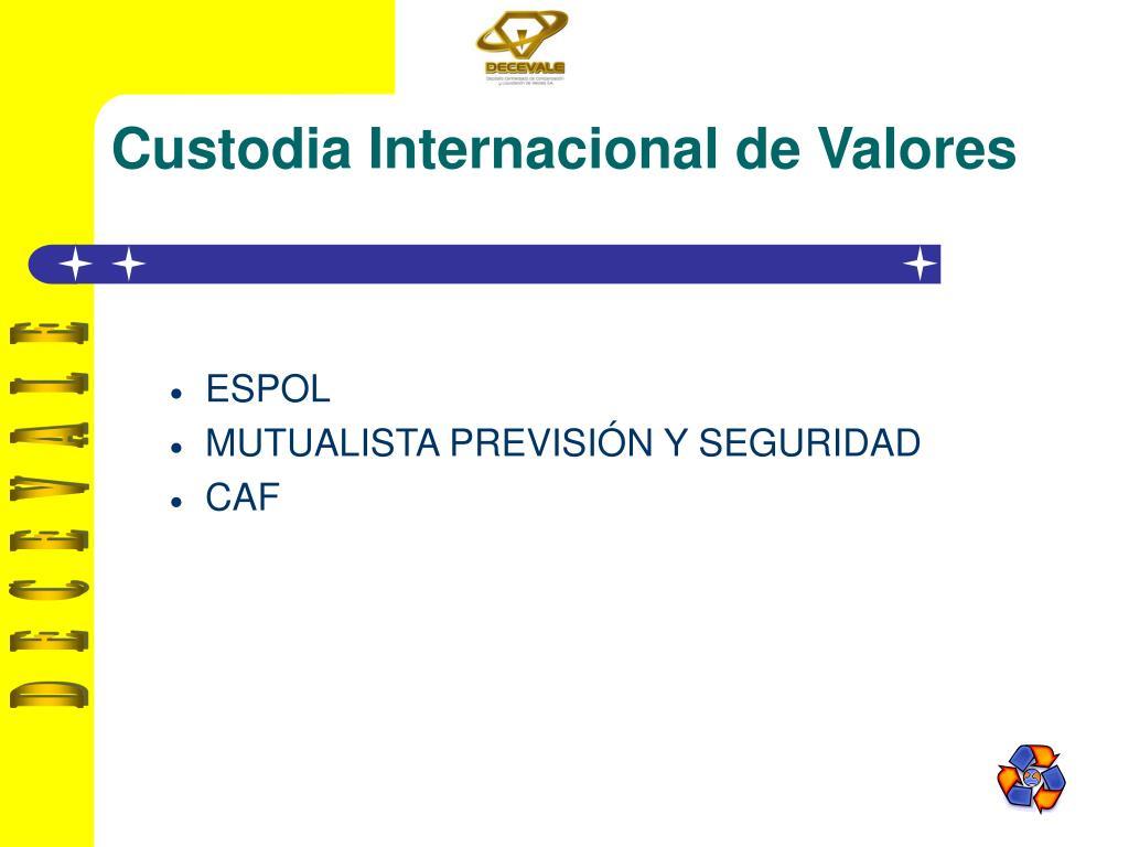Custodia Internacional de Valores