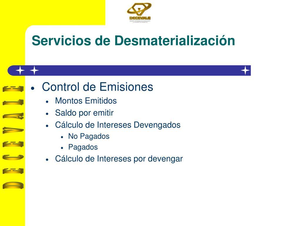 Servicios de Desmaterialización