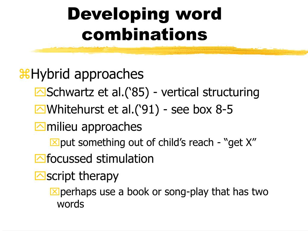 Developing word combinations