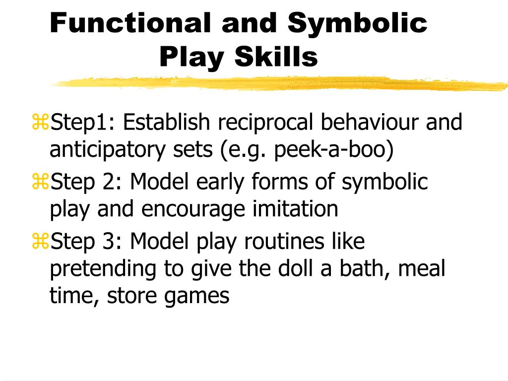 Functional and Symbolic Play Skills