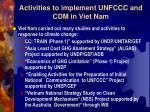 activities to implement unfccc and cdm in viet nam