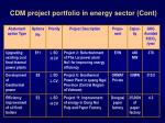 cdm project portfolio in energy sector cont10