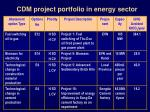 cdm project portfolio in energy sector