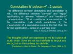 connotation polysemy 2 quotes