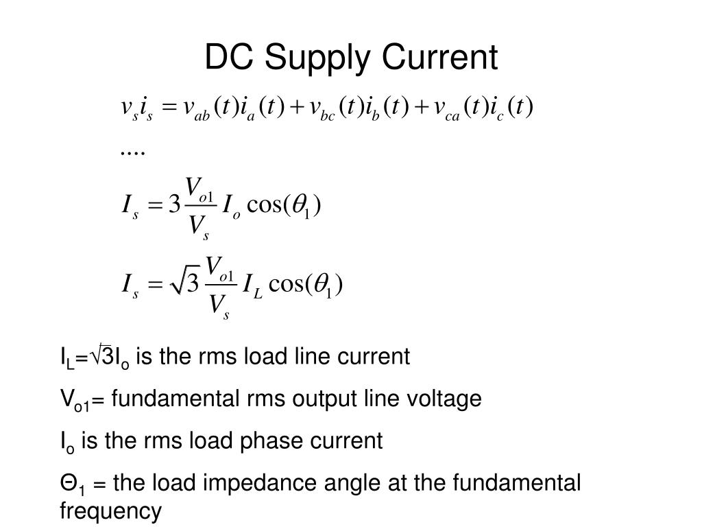 DC Supply Current