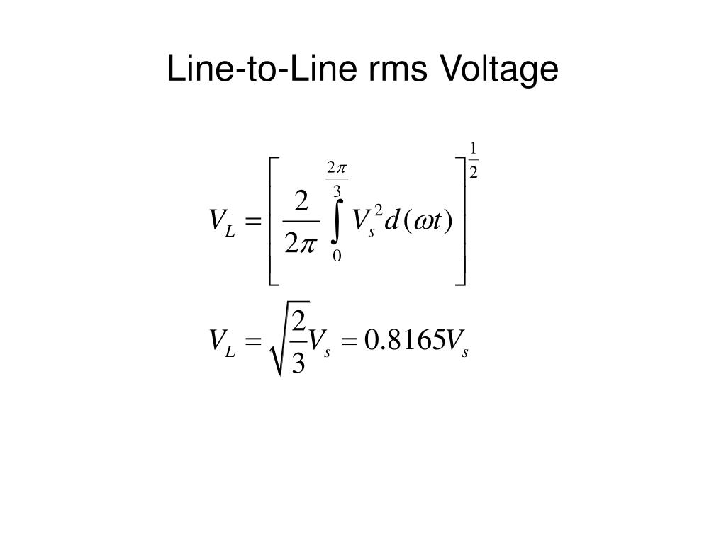 Line-to-Line rms Voltage