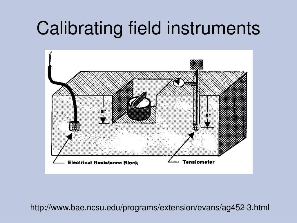 Calibrating field instruments