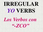 los verbos con zco