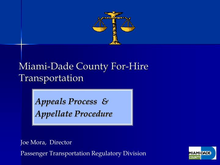 miami dade county for hire transportation n.