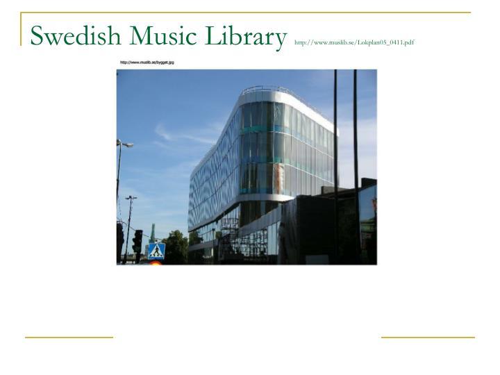 Swedish Music Library