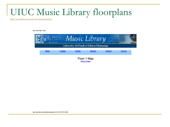 UIUC Music Library floorplans