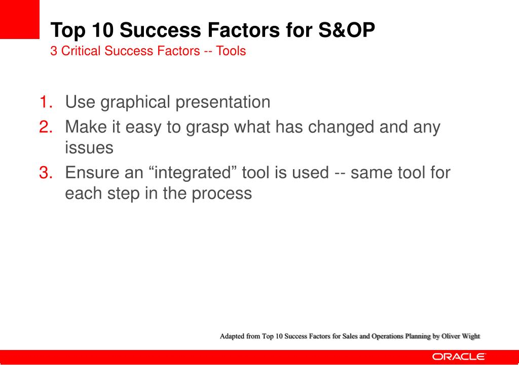 PPT - Top 10 Success Factors for Sales and Operations