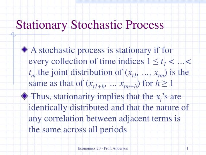 stationary stochastic process n.