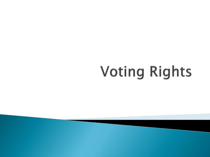 voting rights n.